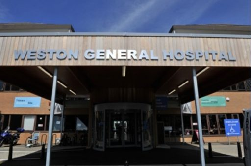 Entrance to Weston General Hospital