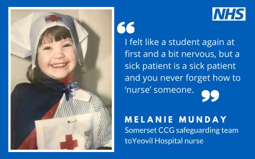 Smiling young girl wearing nurses uniform
