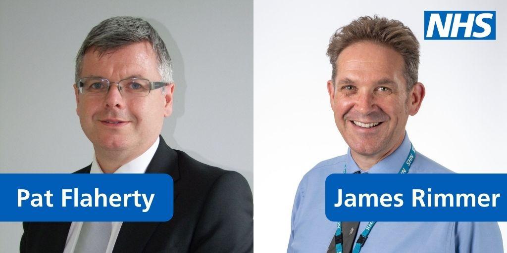 Image of Pat and James smiling at camera