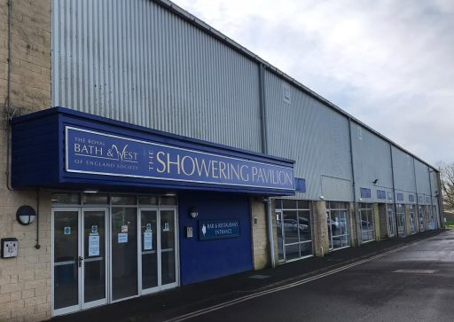 Outside of Showering building at Bath and West Showground